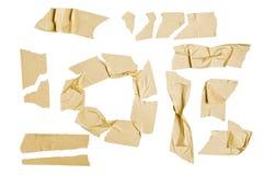 Elementos del gráfico de la cinta adhesiva Foto de archivo