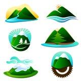 Elementos del gráfico de la montaña Fotografía de archivo