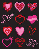 Elementos del gráfico del corazón Imágenes de archivo libres de regalías