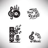 Elementos del gráfico de la música Imagenes de archivo
