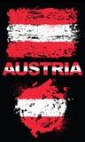 Elementos del Grunge con la bandera de Austria Fotos de archivo libres de regalías