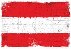 Elementos del Grunge con la bandera de Austria Imágenes de archivo libres de regalías