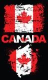 Elementos del Grunge con la bandera de Canadá Foto de archivo