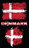Elementos del Grunge con la bandera de Dinamarca Fotografía de archivo libre de regalías