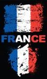 Elementos del Grunge con la bandera de Francia Imagen de archivo libre de regalías