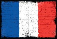 Elementos del Grunge con la bandera de Francia Fotos de archivo