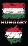 Elementos del Grunge con la bandera de Hungría Imagen de archivo libre de regalías