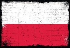 Elementos del Grunge con la bandera de Polonia Imágenes de archivo libres de regalías
