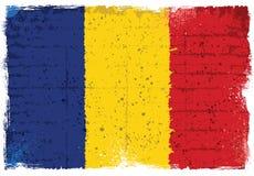 Elementos del Grunge con la bandera de Rumania Fotografía de archivo libre de regalías