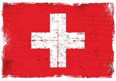 Elementos del Grunge con la bandera de Suiza Imagenes de archivo
