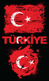 Elementos del Grunge con la bandera de Turquía Foto de archivo libre de regalías