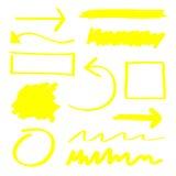 Elementos del Highlighter ilustración del vector