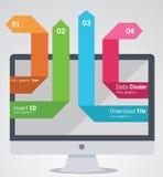 elementos del Info-gráfico Imagen de archivo libre de regalías