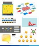 Elementos del infographics Fotografía de archivo libre de regalías
