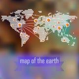Elementos del infographics con un mapa del mundo Imagen de archivo