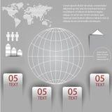Elementos del infographics con un mapa del mundo Imagen de archivo libre de regalías