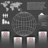 Elementos del infographics con un mapa del mundo Foto de archivo