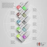 Elementos del infographics con un mapa del mundo Fotografía de archivo libre de regalías