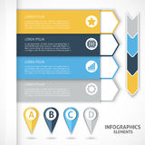 Elementos del infographics de la colección Flechas coloridas Foto de archivo