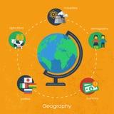 Elementos del infographics de la geografía Vector ilustración del vector
