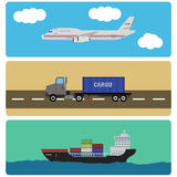 Elementos del infographics del envío y del cargo Imágenes de archivo libres de regalías