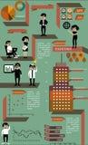 Elementos del infographics del negocio foto de archivo libre de regalías