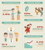 Elementos del infographics del negocio libre illustration