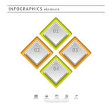 Elementos del infographics del negocio. Temporeros del diseño moderno stock de ilustración