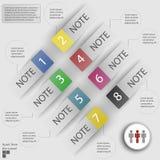 Elementos del infographics para las etiquetas engomadas y las etiquetas Imagen de archivo libre de regalías