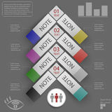Elementos del infographics para las etiquetas engomadas y las etiquetas Fotografía de archivo libre de regalías