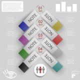 Elementos del infographics para las etiquetas engomadas y las etiquetas Imagen de archivo