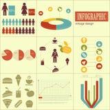 Elementos del infographics para las presentaciones ilustración del vector