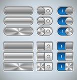 Elementos del interfaz del metal stock de ilustración