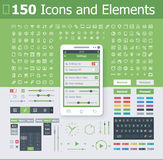 Elementos del interfaz del sistema operativo stock de ilustración