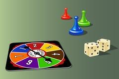 Elementos del juego de mesa Imagen de archivo libre de regalías