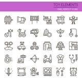 Elementos del juguete libre illustration
