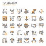Elementos del juguete ilustración del vector