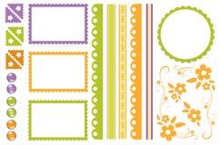Elementos del libro de recuerdos Imagen de archivo libre de regalías