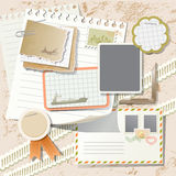 Elementos del libro de recuerdos de la vendimia Foto de archivo