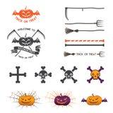 Elementos del logotipo de Halloween Imágenes de archivo libres de regalías