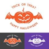 Elementos del logotipo de Halloween Fotografía de archivo libre de regalías