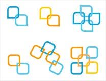 Sistema del logotipo de la compañía Foto de archivo