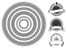 Elementos del marco del círculo Imágenes de archivo libres de regalías