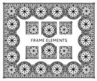 Elementos del marco del cordón Foto de archivo libre de regalías