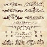 Elementos del marco del vintage Fronteras de la caligrafía y plantilla retra clásica afiligranada del diseño del vector de las es ilustración del vector