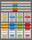 Elementos del menú y del Web site de la navegación Fotos de archivo libres de regalías