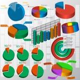 Elementos del mercado de los datos de negocio Imagen de archivo