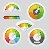 Elementos del metro de la carta del indicador libre illustration