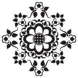 Elementos del modelo de la frontera de Seamles con las flores y líneas del cordón en estilo indio del mehndi aisladas en el fondo Imagen de archivo libre de regalías