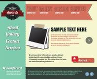Elementos del modelo del Web site, estilo de la vendimia Foto de archivo libre de regalías